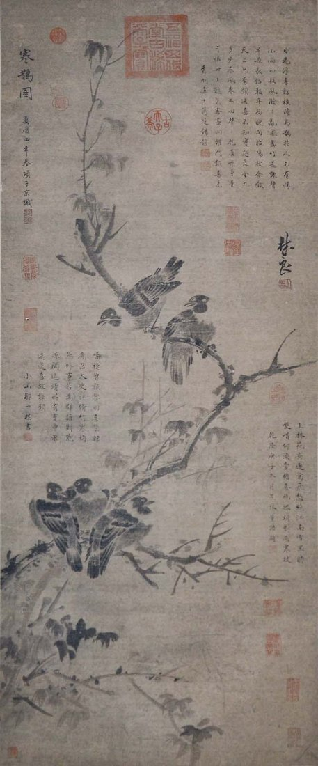 Lin Liang  Ming Dynasty  Winter Magpie