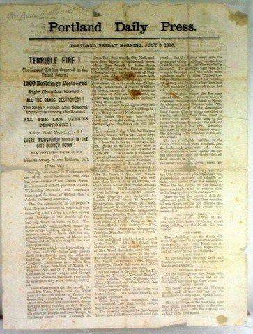 1: Portland Daily Press Friday July 6, 1866 Edition