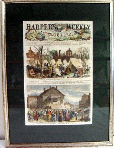 2: Harper's Weekly July 28, 1866 Great Portland Fire