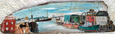 5: Portland Old Port Harbor Painting