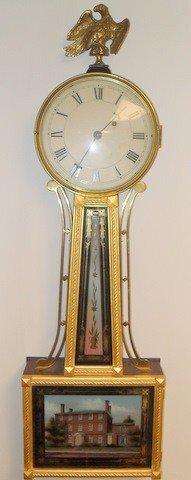 12: Custom Willard Style Weight Driven Banjo Clock