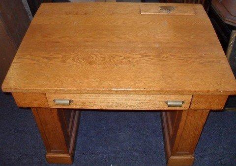17: Oak Councilman's Desk From Portland City Hall