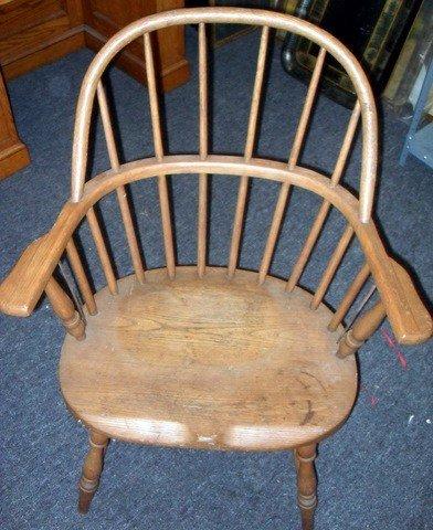 18: Good Victorian Oak Windsor Arm Chair