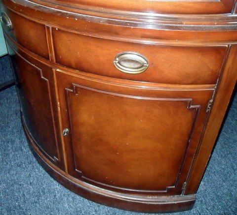 67: 1950s Drexel Heritage Curved Corner China Cabinet - 5