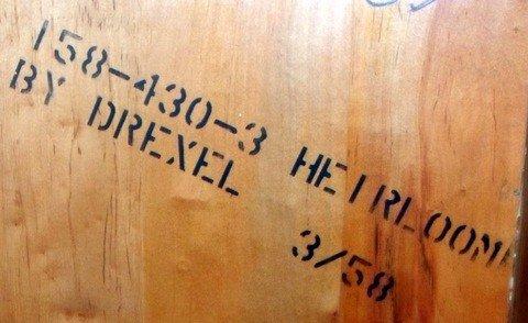 67: 1950s Drexel Heritage Curved Corner China Cabinet - 7