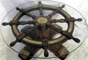 80 Spoked Ship S Wheel Coffee Table Jan 07 2012 Gerald W Bell Jr In Maine