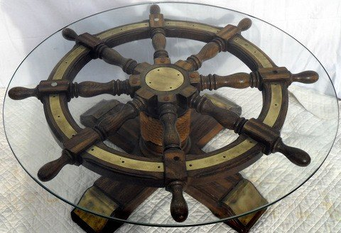80 Spoked Ship 39 S Wheel Coffee Table