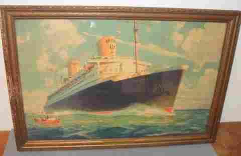 179X: Rare North German Lloyds Bremen Covered Lithograp