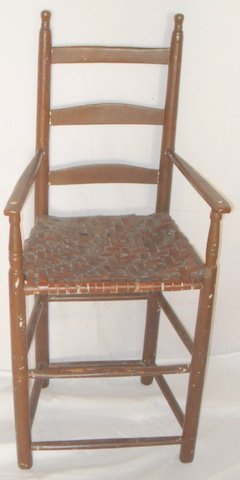 2: Early NE Child's Ladder-back Chair