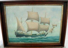 22: O/B of Mid 18th Century Sailing Vessel