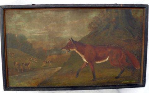 36: English Fox Hunt Tavern Sign