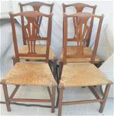 44 Four Country Chippendale Side Chairs