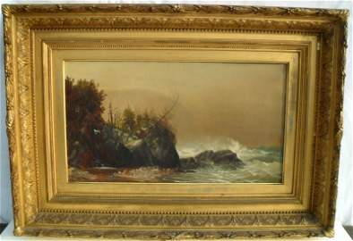 100A: O/C Maine Coast Landscape HB Brown