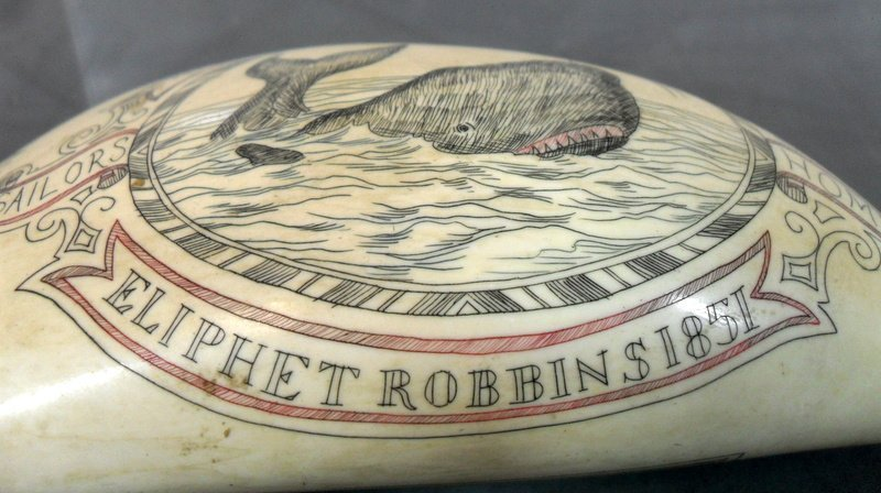 152: Sailor's Scrimshaw Whale's Tooth - 3
