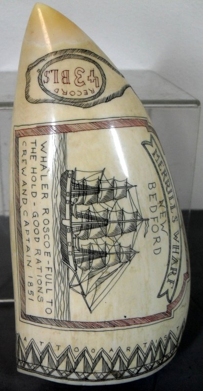 152: Sailor's Scrimshaw Whale's Tooth - 8