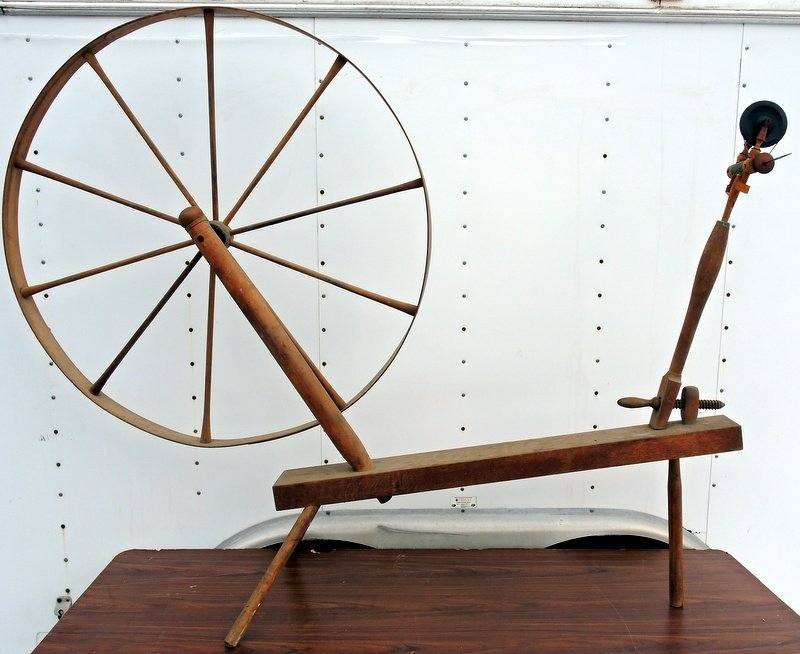 Rare New Hampshire Walking Spinning Wheel