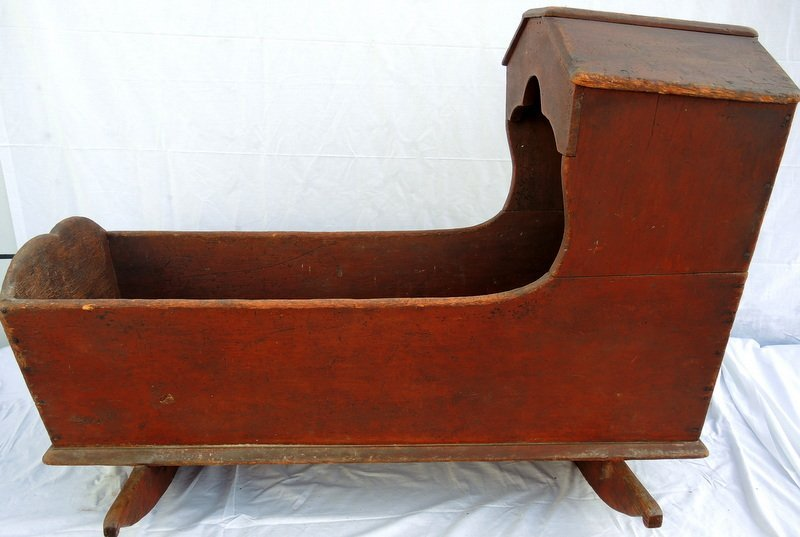 """Early 19th Century """"Covered Wagon"""" Rocking Cradle"""