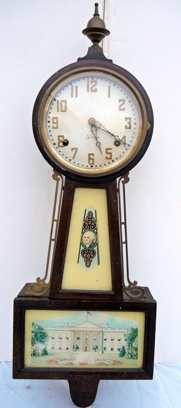 Sessions Mount Vernon Banjo Clock