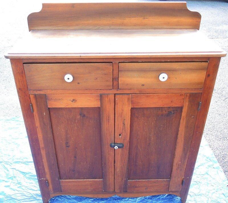Rare Two Door Butternut Jelly Cupboard