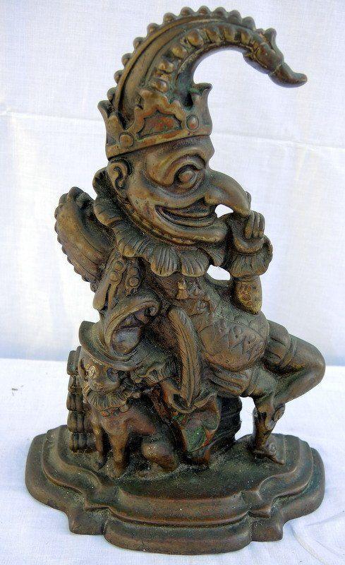 Brass English Puppet Caricature Doorstop
