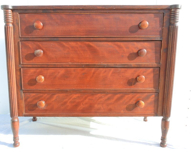 Sheraton State of Maine Wavy Birch Four Drawer Chest