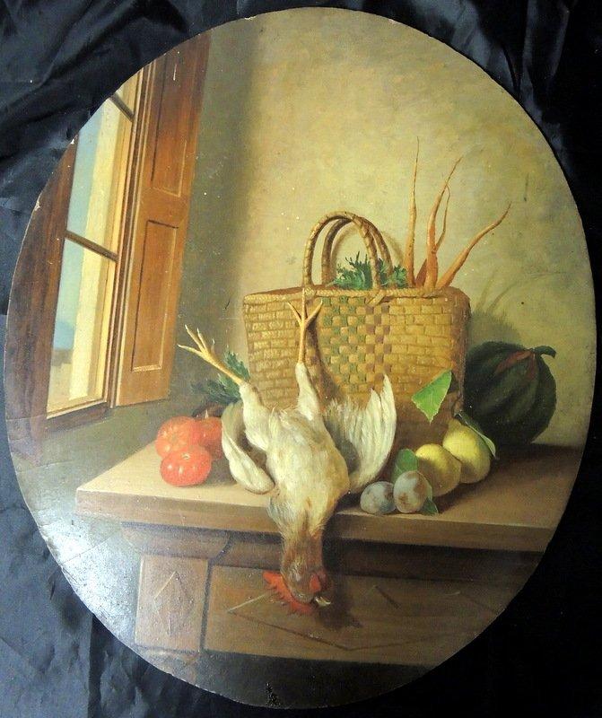 Leopold Dumini (19th Century Italian Oil on Board Still