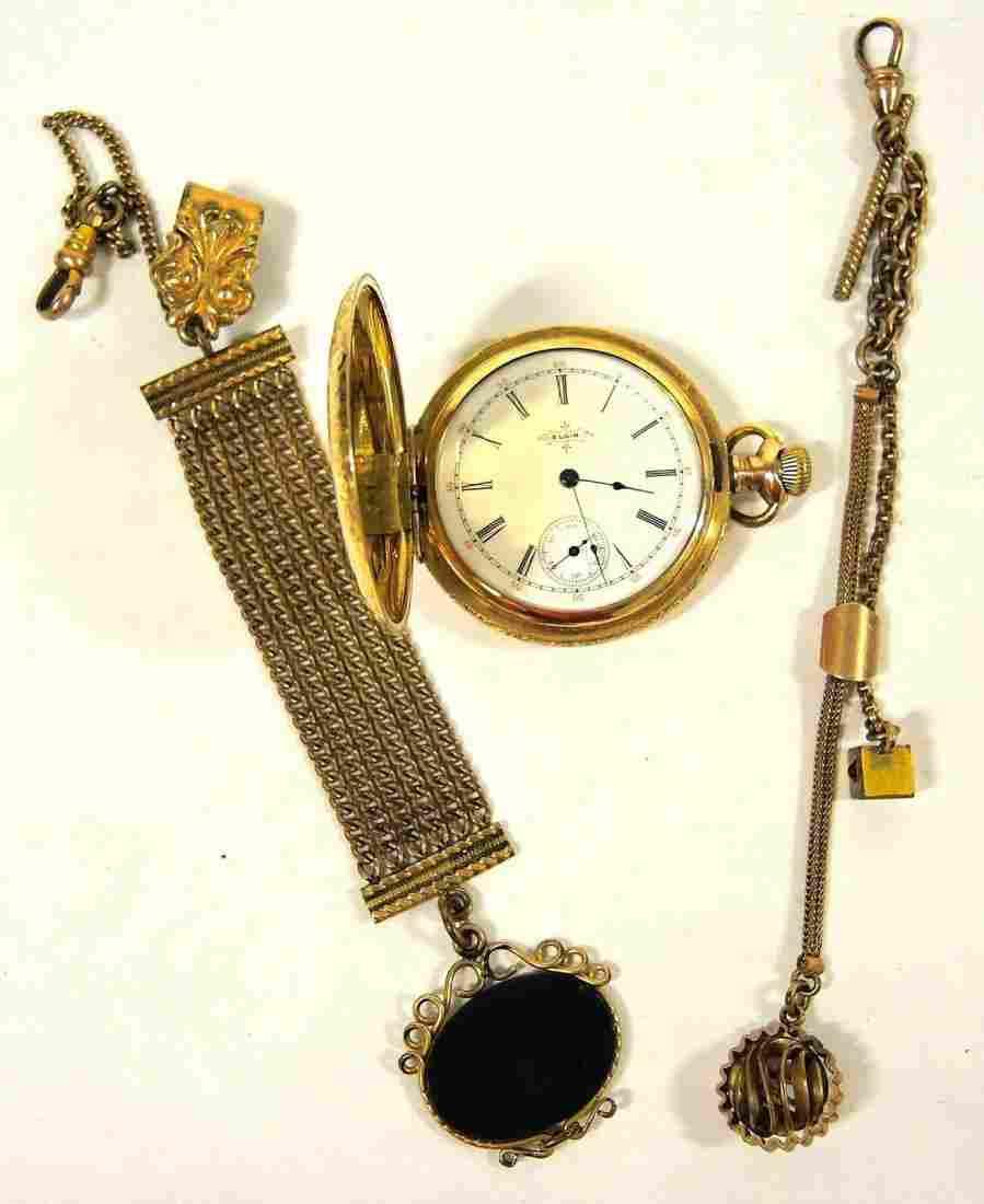 Elgin Gold Filled Hunter Case Pocket Watch