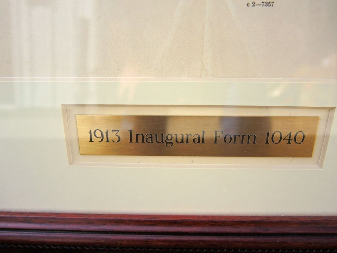 Rare Original 1913 Inaugural 1040 Income Tax Form - 5