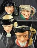 Four Miniature Royal Doulton Character Jugs