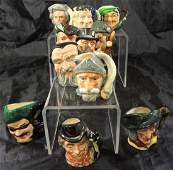 Lot of 11 Miniature Royal Doulton Character Jugs