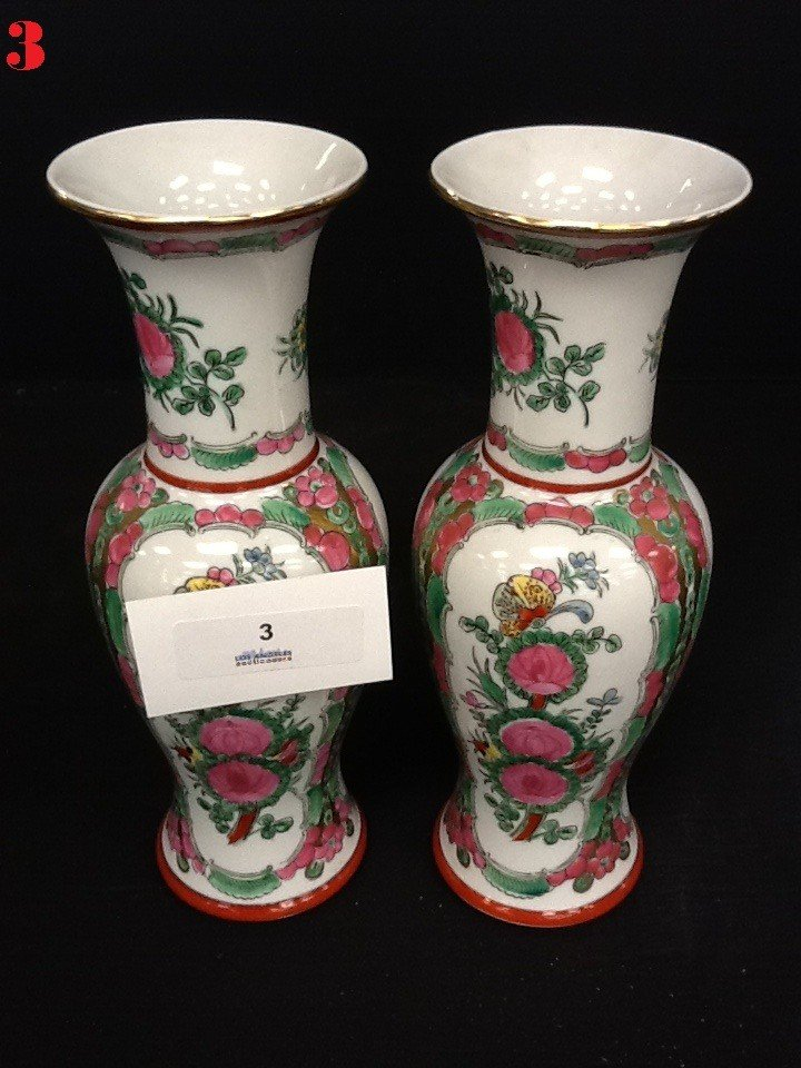 3: Porcelain Vase PAIR