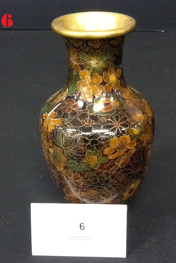 6: Asian Cloisonne Vase
