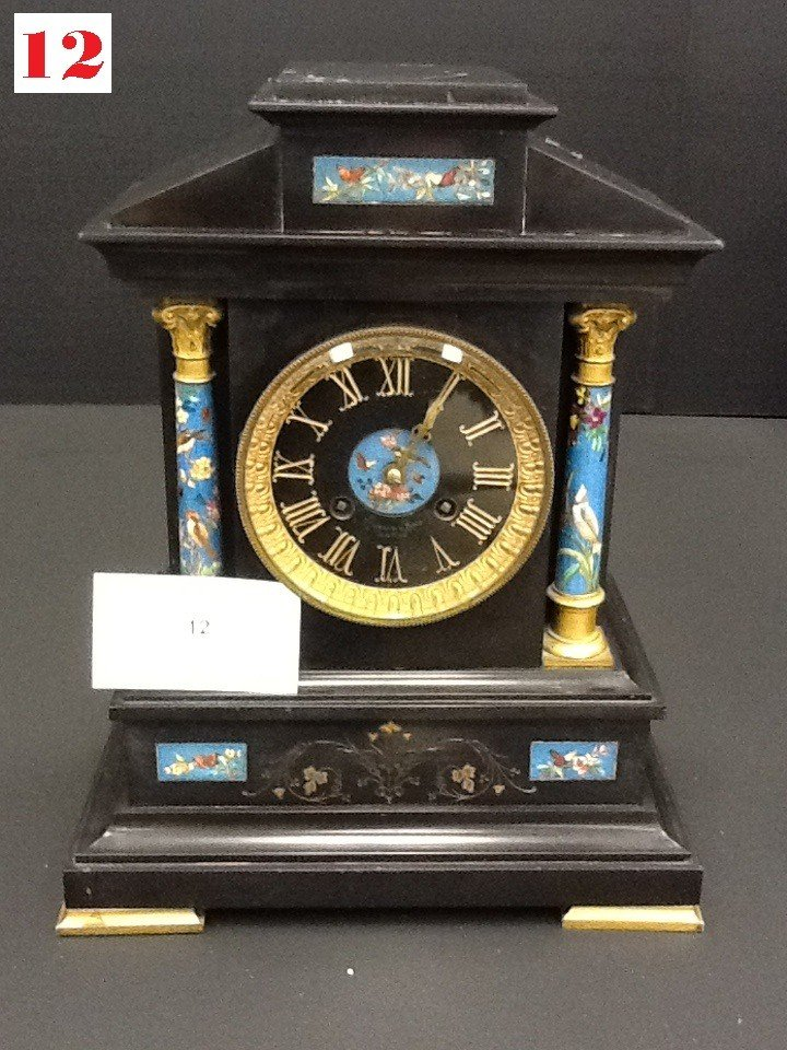 12: Marble Mantle Clock
