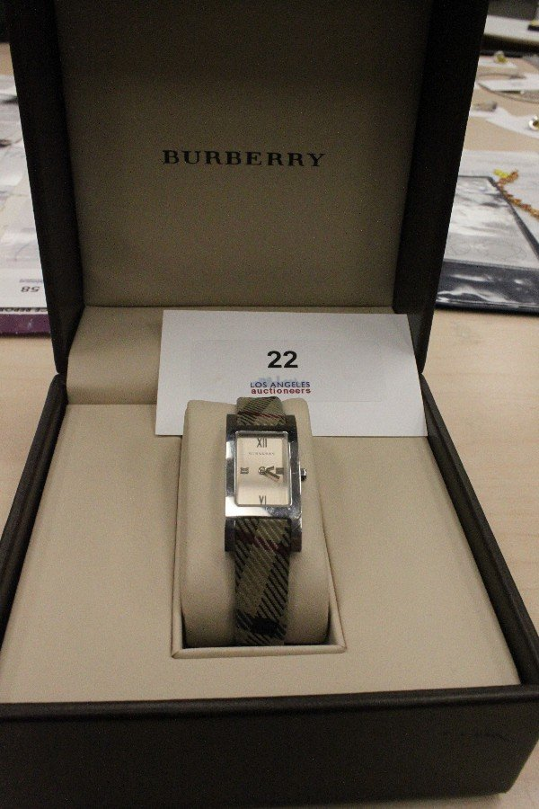 22: Burberry Ladies' Check Strap Watch