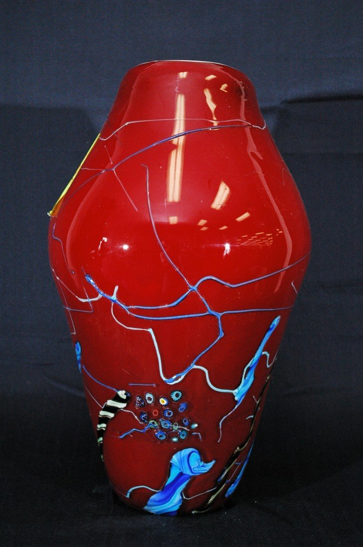 4B: Art Deco Glass Vase