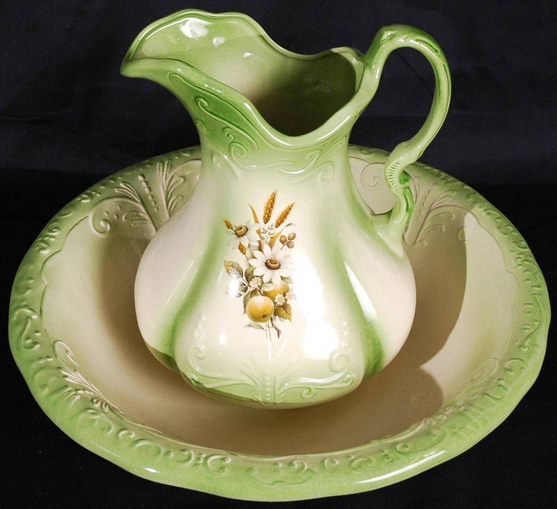 2: Porcelain Pitcher and Washbasin
