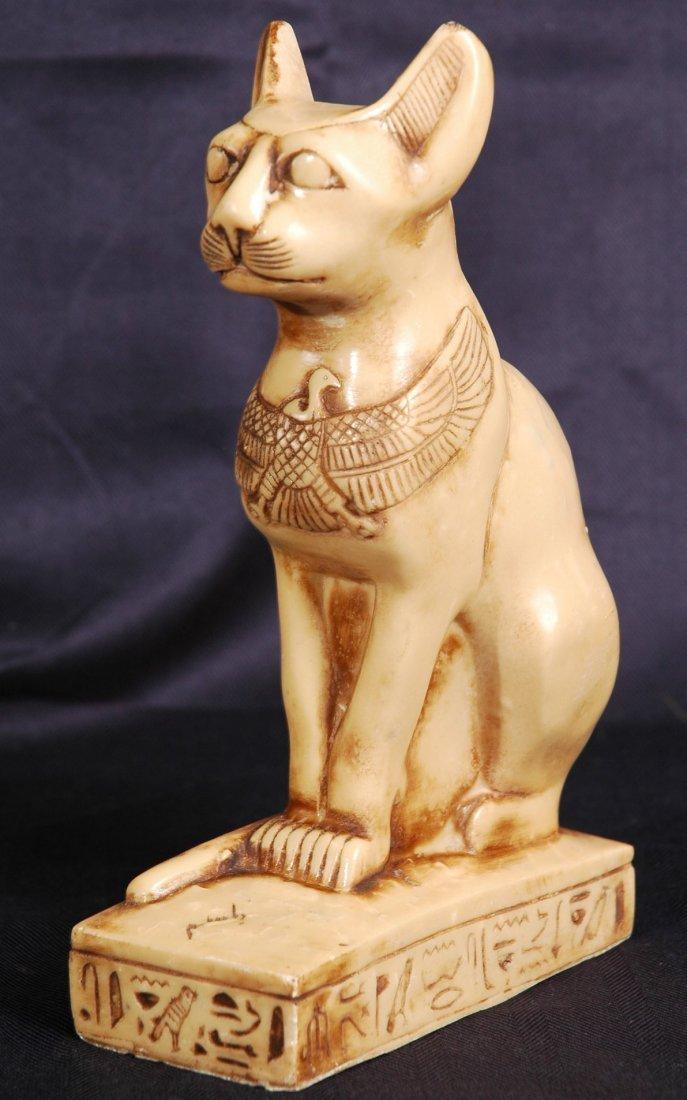 3: Stone Statue of Egyptian Cat God