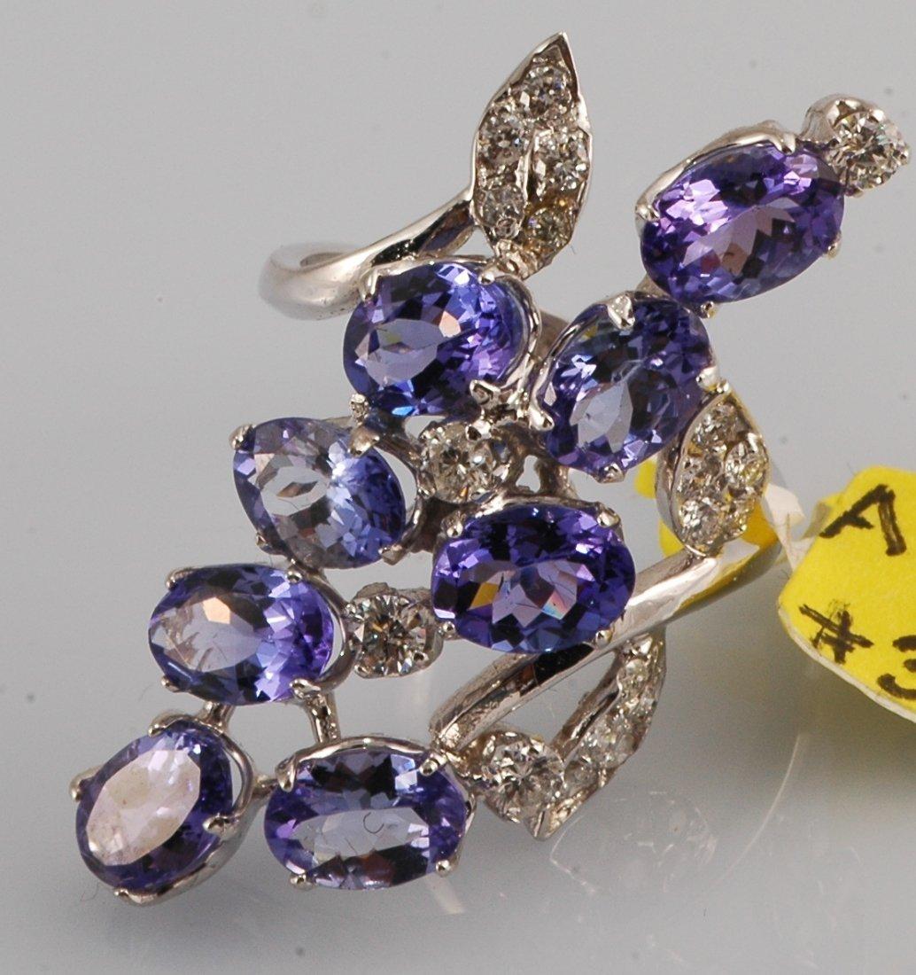 9: Tanzanite & Diamond Ring