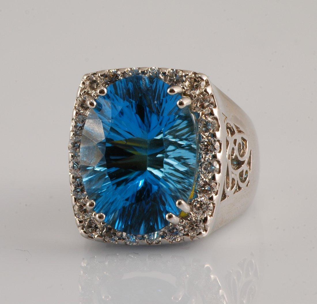 10: Topaz & Diamond Ring