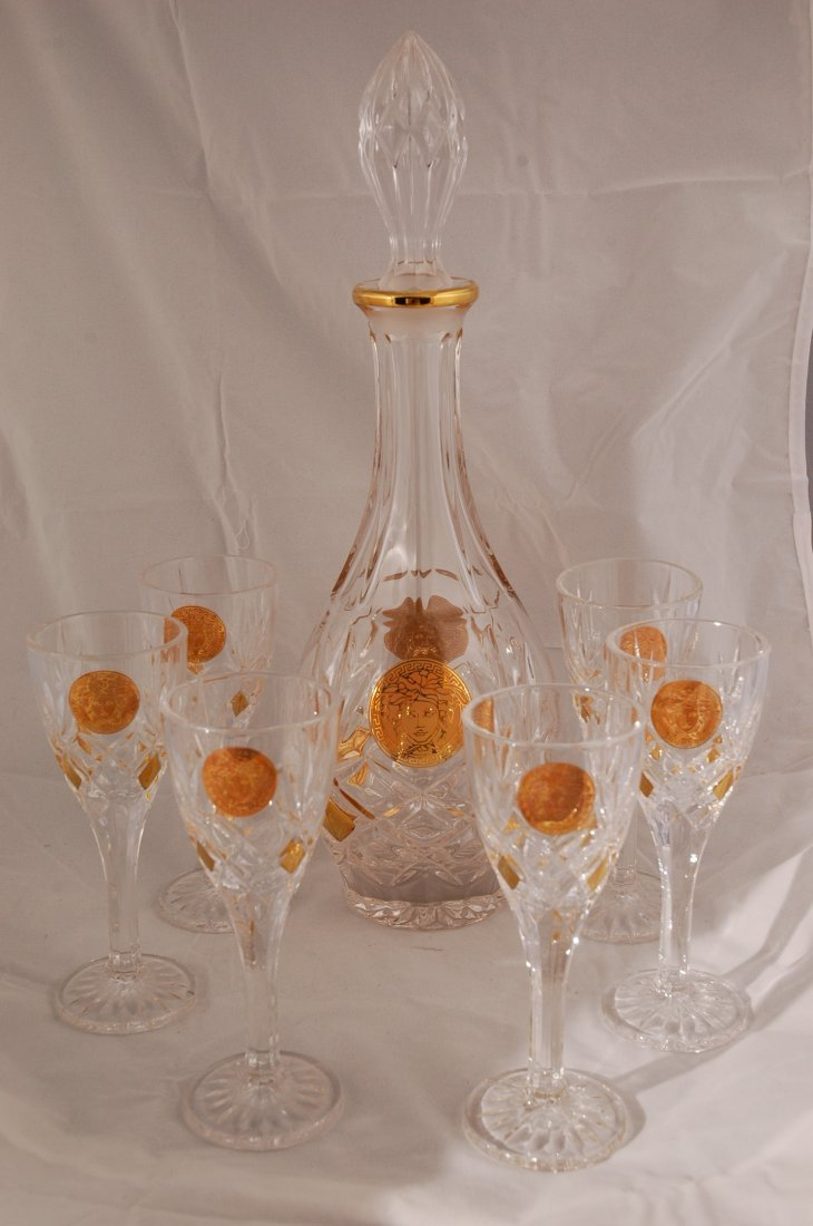 16: Bohemian Crystal 7 pc Liquor Set
