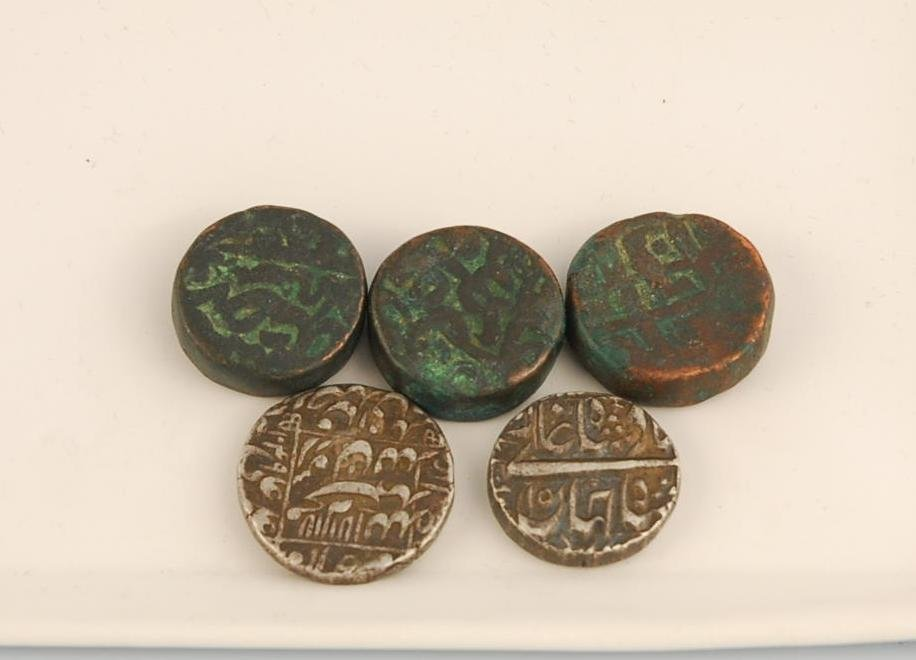 10A: Mughal Empire Dynasty - Ancient Copper and Silver