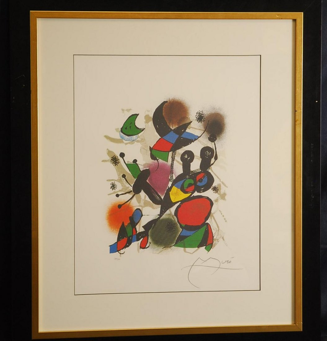 """1D: Joan Miro """"The End of an Illusion"""" Ltd Ed Lithograp"""