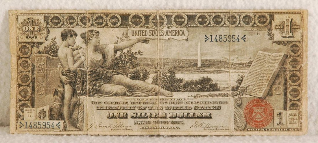 2: One Dollar Silver Certificate 1896