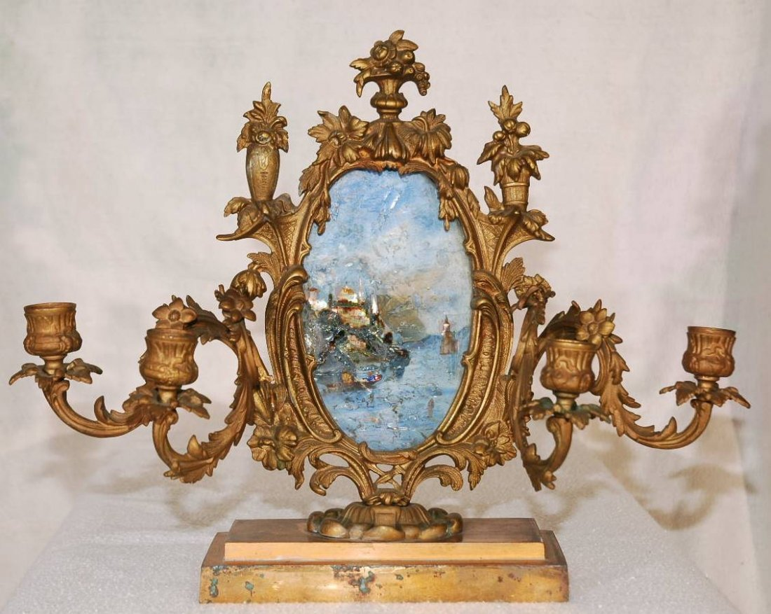 3: Antique French Candleholder