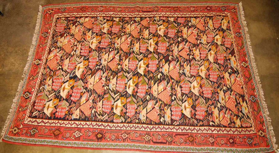 66: Antique Wool Persian Rug