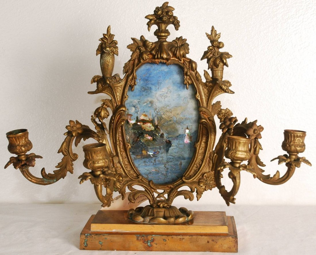3A: Antique French Candleholder