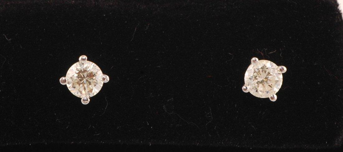 7A: 18K 0.50ct Diamond Studs