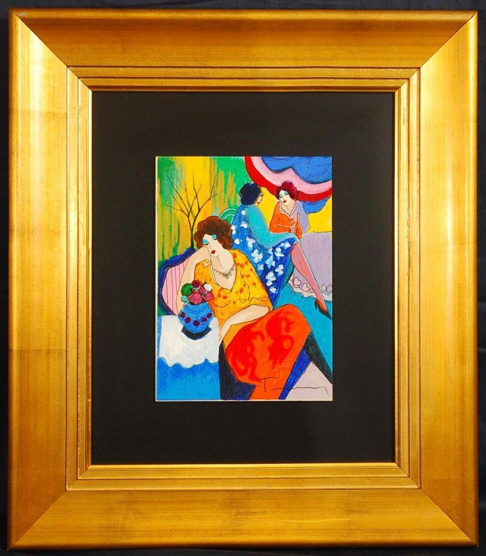 "11: Itzchak Tarkay (1935 - 2012) ""Quiet Afternoon"" Hand"