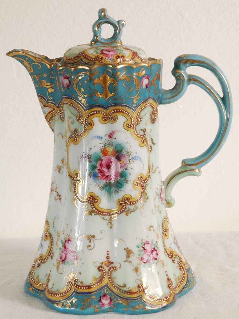 12: 1900's Antique Chocolate Pot