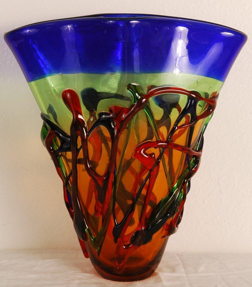 12A: Hand Blown Glass Vase